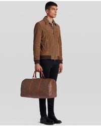 Etro Paisley Travel Bag With Studs - Brown