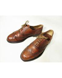 Etsy Vintage Cuir Brun Plein Brogue Wingtip Chaussures Oxford Pour s - Marron