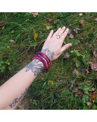 Etsy Bangles // Texture Bangles //bracelet/fibre Art - Green