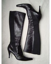 Etsy Bottes Pointues Boots Yves Saint Laurent Cuir Noir Pointure 39