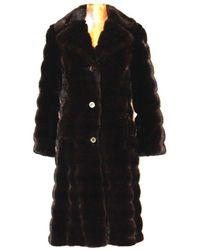 Etsy Manteau Long Vintage En Fausse Fourrure Années 80 Marron