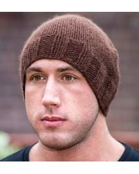 Etsy Cashmere Hat - Brown