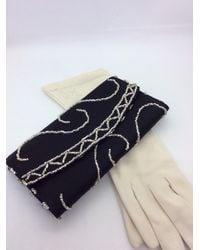 Etsy Vintage Lesoir Beaded Clutch & Gloves - Grey
