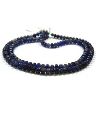 Etsy Natural Iolite Africa Smooth Beads Gemstones - Blue