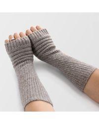 Etsy Eco Yak Down Fingerless Gloves Mongolian Natural Wool Wrist Warmers - Grey