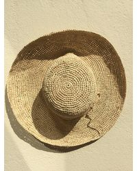 Etsy Natural Raffia Straw Floppy Hat With A Med Brim