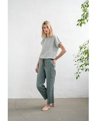 Etsy Vêtements De Nuit En Lin/Ensemble Pyjama Pantalon Pyjama Pj/Linen /Pantalon Audrey Et Pantalon Eva - Multicolore