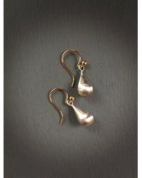 Etsy Bi-metal Interchangeable Petite Dangles/satin Textured Sterling Puffed Teardrops 14k Gold Filled Convertible Ear Wires Ooak - Metallic
