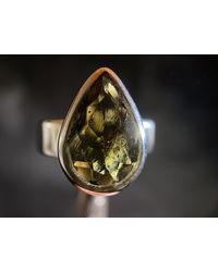 Etsy Moldavite Ring - Metallic