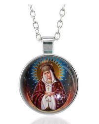 Etsy Virgin Mary Ostrobramska Necklace Our Lady Of The Gate Dawn Pendant - Metallic