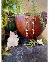 Etsy Mariposa Moon Earrings - Metallic