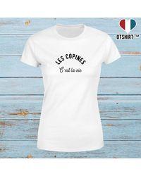 Etsy T Shirt Pas Cher Les Copines - Bleu