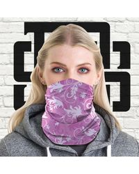 Etsy Face Mask Leaf Pattern #4 Ppe Tubular Bandana Retro 60's Neck Warmer Snood Scarf Biker Multi Purpose Use Head Wrap - Multicolour