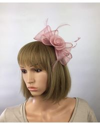 Etsy Blush Pink Fascinator Light Facinator Pale Bow On Headband Mother Of The Bride Wedding Occasion Hat Ascot Races Ladies Day Event