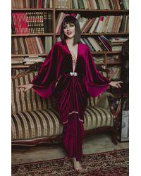 Etsy Années 1920 Bordoux Velvet Robe Couleur Style Hollywoodien Grand Gatsby Burlesque Flapper Cocoon Manteau - Multicolore