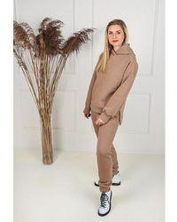 Etsy Sweat-Shirt Brun Sweat Hoodie Et Jogger Ensemble Loungewear Survêtement Matching Co Ord Streetwear Deux Pièces Streetwea - Marron