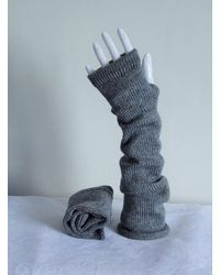 Etsy Grey Fingerless Gloves