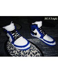 Etsy Blue Air Jordan1 - Blanc