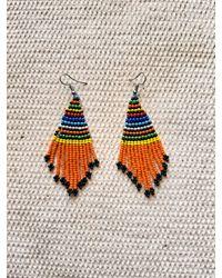 Etsy Sale African Beaded Dangle Earrings - Multicolor