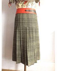 Etsy Jupe Plissé Vintage En Laine A Carreaux Jupe Kilt À Plis 100% Pure Vierge Mi Longue Plissée Noir Et Blanc Écossais 70S 1970S