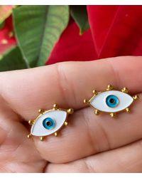 Etsy Evil Eye Earrings • Greek Eyes Nazar Evil Protection Jewelry •gold Filled Earrings - Multicolor