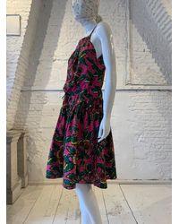 Etsy Vintage Années 1980 Kenzo Jap Rare Robe D'Été À Volants En Coton Floral - Blanc