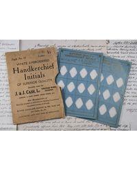Etsy 1920's Handkerchief Initials - White