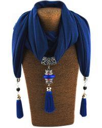 Etsy Gfm Beautiful Jewellery Pendant Sca - Blue