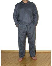 Etsy Ensemble De Pyjamas En Lin - Bleu