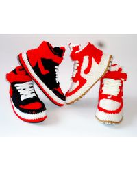 Etsy Air Force 1 Mid - Rouge