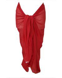 Etsy Cotton Plain High Quality Beautiful Sarong Large Size Hijab Scarf Shawl Abaya - Red