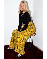 Etsy Pantalon À Jambes Larges En Coton Biologique/Bambou Souci Déraciné - Jaune