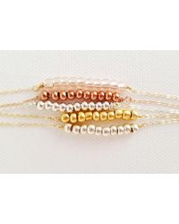 Etsy Rose Gold Beaded Necklace - Metallic