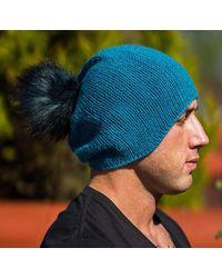 Etsy Cashmere Cap - Blue