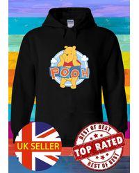 Etsy Winnie The Pooh Cute Bear Thinks Hoodie Sweatshirt Jumper Pullover Ladies 5609 - Black