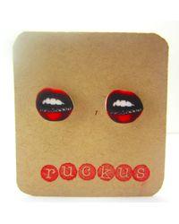 Etsy Lips Earrings - Multicolor