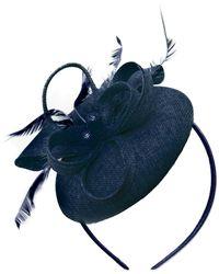 Etsy Round Navy Blue Pillbox Bow Sinamay Headband Fascinator Weddings Ascot Hatinator Races