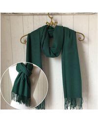 Etsy - Green Wool Pashmina/shawl Wrap Woollen Wedding Wrap/ Wedding Scarves - Lyst