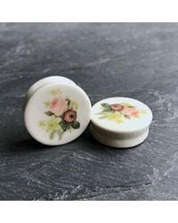 Etsy Redouté Flower Plugs - Gray