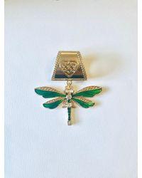 Etsy Green Dragonfly Scarf Ring/bail Slide - Black