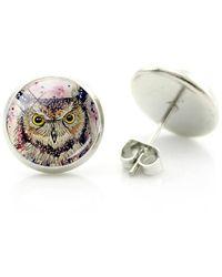 Etsy Owl Earrings - Metallic