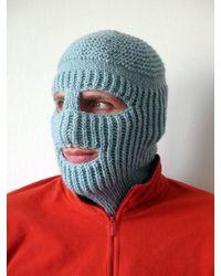 Etsy Knit Ski Mask Hat - Blue