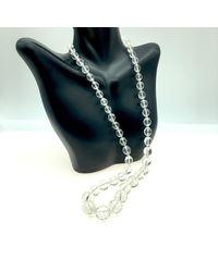 Etsy Vintage Checkerboard Cut Crystal Graduated Beaded Necklace - Multicolor