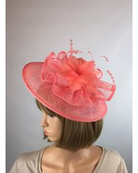 Etsy Pale Coral Fascinator Salmon Hatinator Coral Pink Wedding Hat Ladies Day Ascot Races Occasion Prom Party