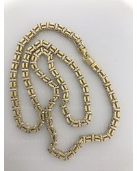 Etsy Two Tone 14k Yellow & White Gold 5mm Thick Box Chain Necklace