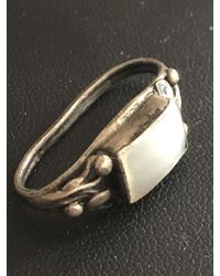 Etsy Antique To Art Deco Unmarked Solid Silver White Metal Mop Genuine Pearl Scarf Ring 1920s 1930s 1940s Vintage