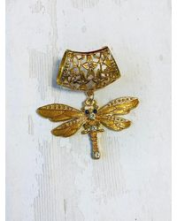 Etsy Yellow Dragonfly Scarf Ring/bail Slide