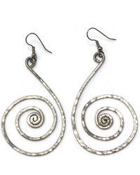 Etsy Omazi German Silver Earrings- Long Beautiful Swan Earrings - Metallic