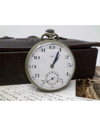 "Etsy Vintage French Pocket Watch ""het"" With Porcelain Dial - Metallic"