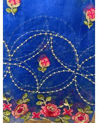 Etsy Blue Organza Duppattas Embroidered Border Scarf Chunni Chunri Odhni Update Your Salwar Kameez Lehengas Kurtis